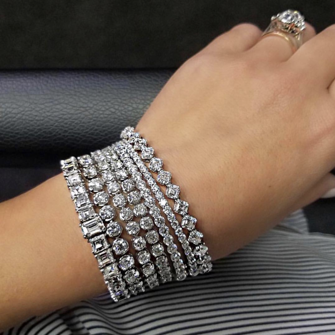 4mm Round Moissanite Diamond Bracelets