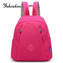 Pink Women Backpacks nylon cloth School Backpack For Teenage Girls Mochila Feminina Brand Travel shoulde bag Casual Sac A Dos