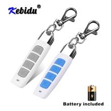 Kebidu Interruptor de Control remoto de 433MHZ, llave ABCD para abrir puertas de garaje, duplicador de código de clonación, Mini controlador inalámbrico