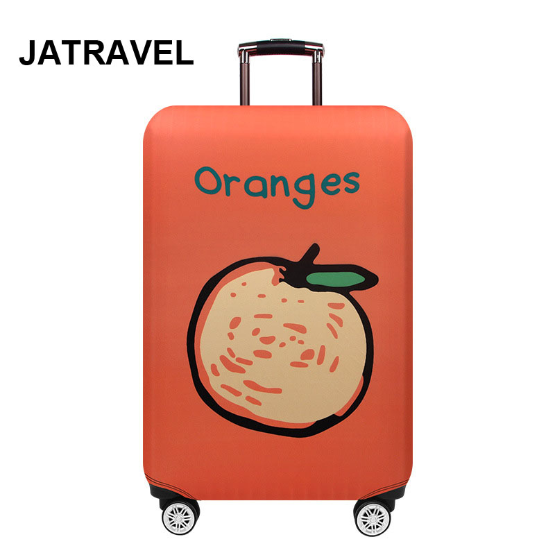 Thicker Travel Orange Luggage Cover Suitcase Case Travel Accessorie Elastic Luggage Cover Apply To 18-32inch Suitcase