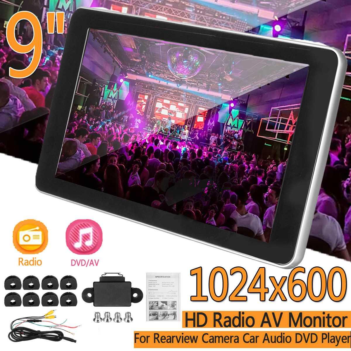 Audio-Monitor Headrest Dvd-Player Camera Digital-Screen Backup Av-Input Tft-Color 9inch