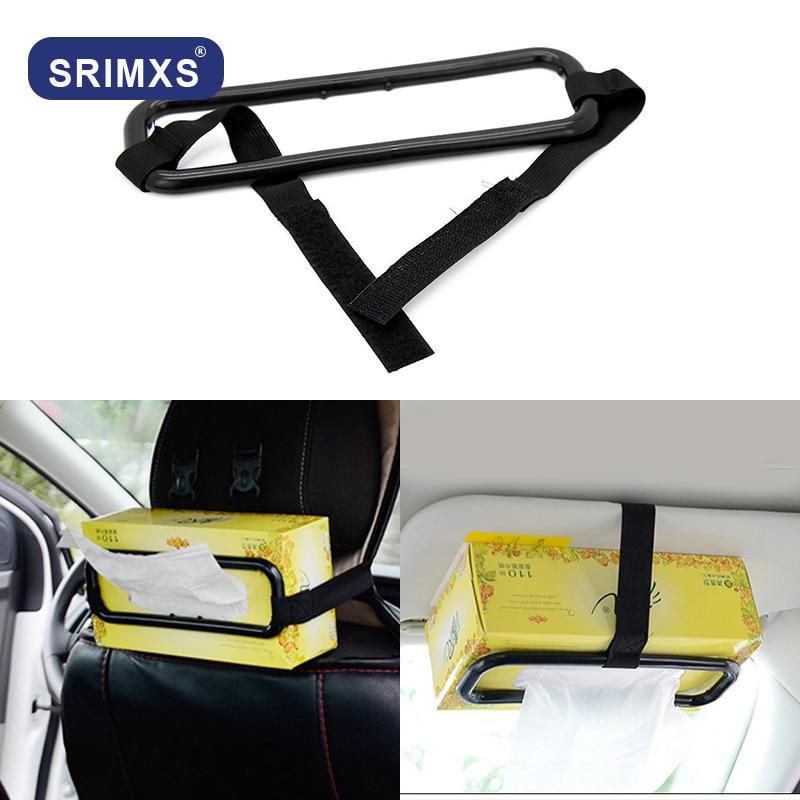 Car Sun Visor Tissue Holder Box Cover Napkin Seat Back Clip Bracket Auto Accesso