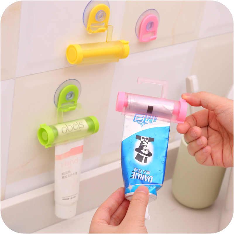 5 kolorów plastikowa tubka do zgniatania przydatna pasta do zębów łatwe dozownik łazienka uchwyt do pasty do zębów akcesoria łazienkowe