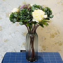 1Pc Artificial Flower Peony Home Garden Stage Bridal Wedding Party Decor Props  Vivid Color non-fading