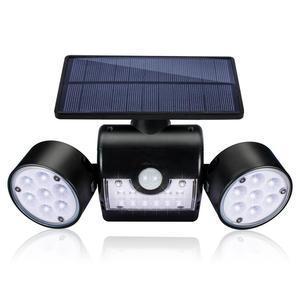 Image 1 - Dış duvar lambası güneş LED ışık hareket sensörü duvar işıkları 30 LED IP65 su geçirmez çift ışık kafa veranda garaj hızlı kargo