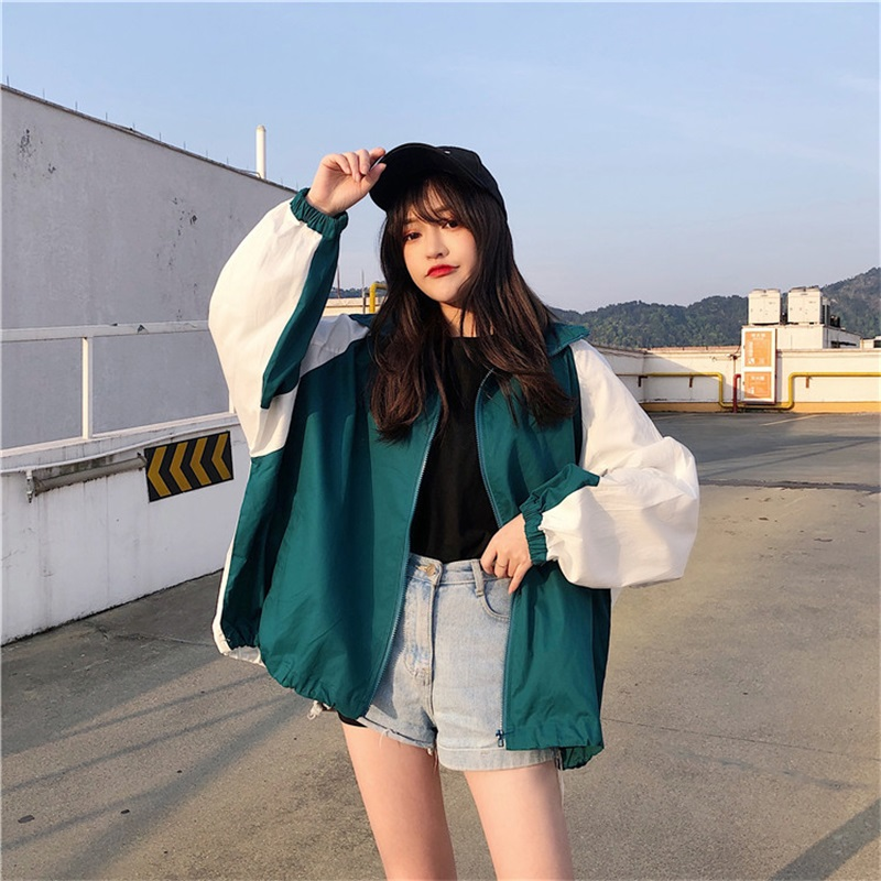 Jackets Women Trendy Leisure Korean Style All-match Harajuku Printed Womens Clothing Simple Coat Female Students Streetwear New