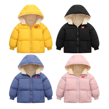 2020 Winter Boys Hooded Jackets Coat Girls Thicken Warm Jacket Baby Outerwear Fashion Children Down Cotton Jacket For Kids Coats 2020 new boys jackets parka baby outerwear childen winter jackets for boys down jackets coats warm kids baby thick cotton down