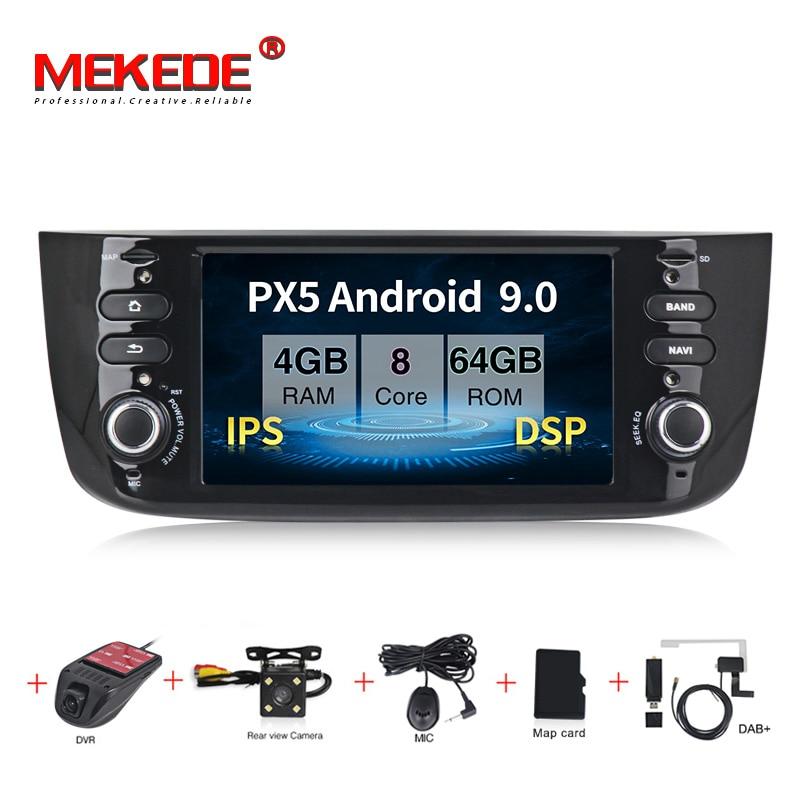 MEKEDE IPS DSP Android 9.0 Autoradio Car DVD Multimedia Player For Fiat/Linea/Punto Evo 2012-2015 GPS Navigation Headunit