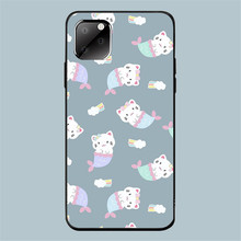 Funny case for Iphone 11 Pro Max XR Ip7 8Plus 6s Se Cartoon Cute Cat Tpu Silicon Black Shell Case 360 Full Protective back Cover cute cartoon owl style protective plastic back case for iphone 5c light yellow multicolor
