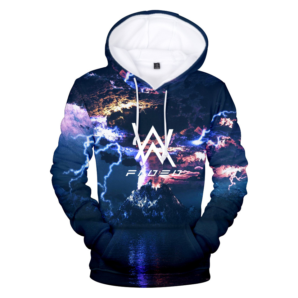 Cross-Border Hot Selling Alan Walker Allen Walker Faded CHUSIHAI Glacier Autumn 3D Hooded Hoodie