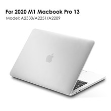 Matte & Crystal Clear Hard Shell Cover Case For 2020 New M1 Macbook Pro 13 Model A2338/A2251/A2289,Matte Finish with Rubber Feet