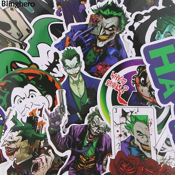 Blinghero Joker Stickers 19 Pcs/set  Horror Stickers Scrapbooking Stickers Laptop Car Skateboard Stickers Cool Decals BH0068 1000 cool stickers