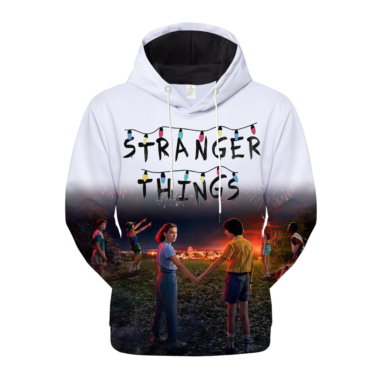 US $17.8 |2019 Stranger Things Women Hoodies Sweatshirts Fans Sweatshirt Streetwear Clothes Oversized 4XL Merchandise in Hoodies & Sweatshirts from