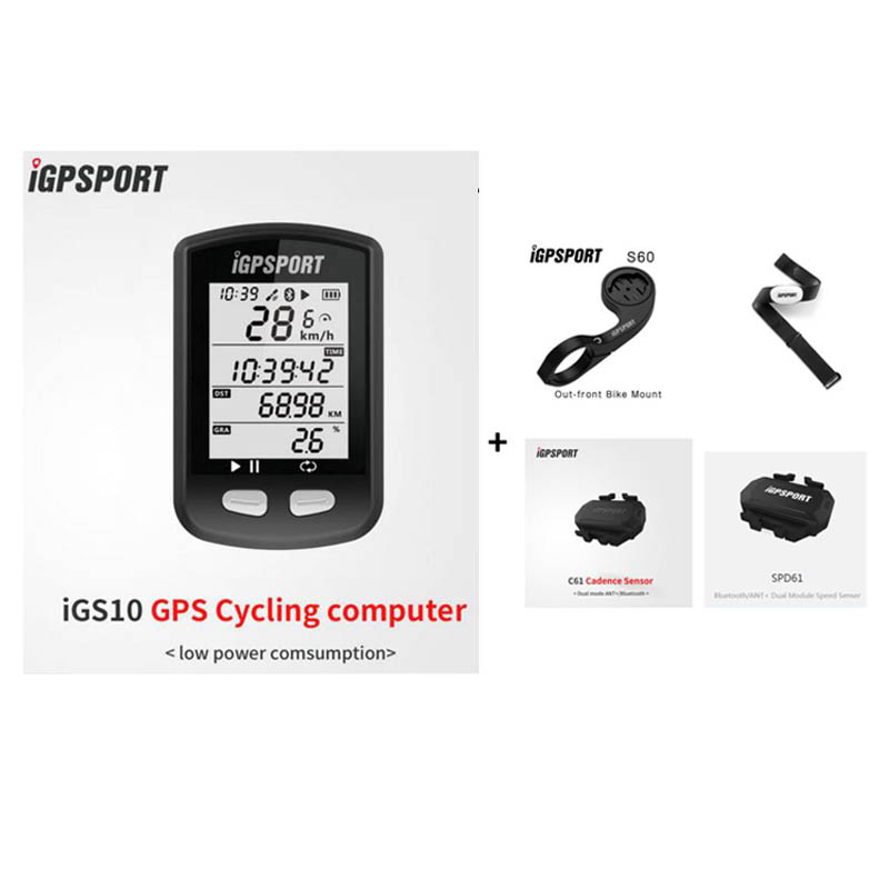 IGPSPORT IGS10 Mtb Bicycle <font><b>Computer</b></font> <font><b>GPS</b></font> Waterproof IPX6 ANT+ Wireless Cycling Speedometer <font><b>Bike</b></font> Digital Stopwatch Accessories image