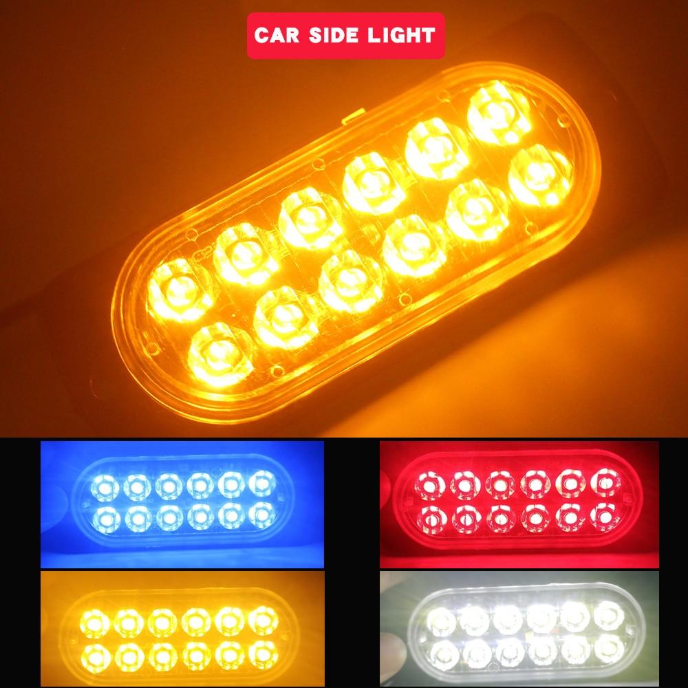 12V-24v светодиодный светильник балка желтого цвета на автомобиль грузовик боковой габаритный фонарь светильник поворота светильник бар инди...