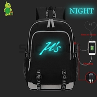 Love Live USB Charge Headphone Jack Laptop Backpack for Teenage Girls Boys Luminous School Bags Multifunction Travel Rucksack
