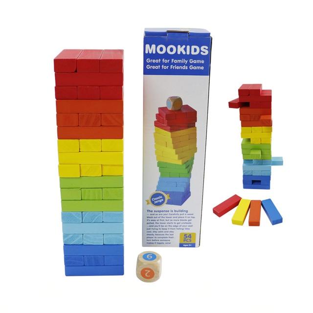 Children-Educational-Toys-jenga-Free-Shipping-54PCS-Wooden-Large-Colorful-Blocks-Building-Jenga-wooden-block-jenga