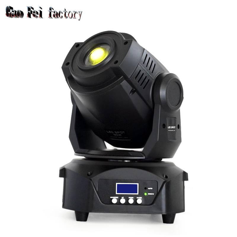 Spot Light Moving Head 90w Light High Bright 90w White Leds With Doule Gobo Wheel And 3-face Prism 7 Colors For DJ Stage Light