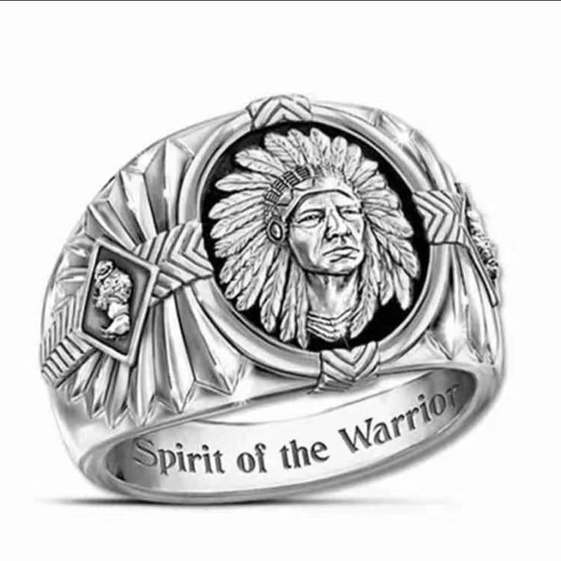 Модное ювелирное изделие, кольца, мужские золотые двухцветная кольцо, творческие кольцо викингов, индийский дух Тотем кольцо