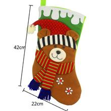 Adorable Christmas Stockings Xmas Gift Socks Children Candy Bag Tree Ornament