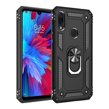 Shockproof Armor Case For Xiaomi Redmi Note 7 Pro Note7 &Stand Holder Ring Rugged Hard Back Cover Red Mi 7pro On