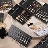 Brincos femininos conjunto retro coreano geométrico brincos para mulheres coreano ouro pequeno metal pérola brinco 2021 tendência jóias 2