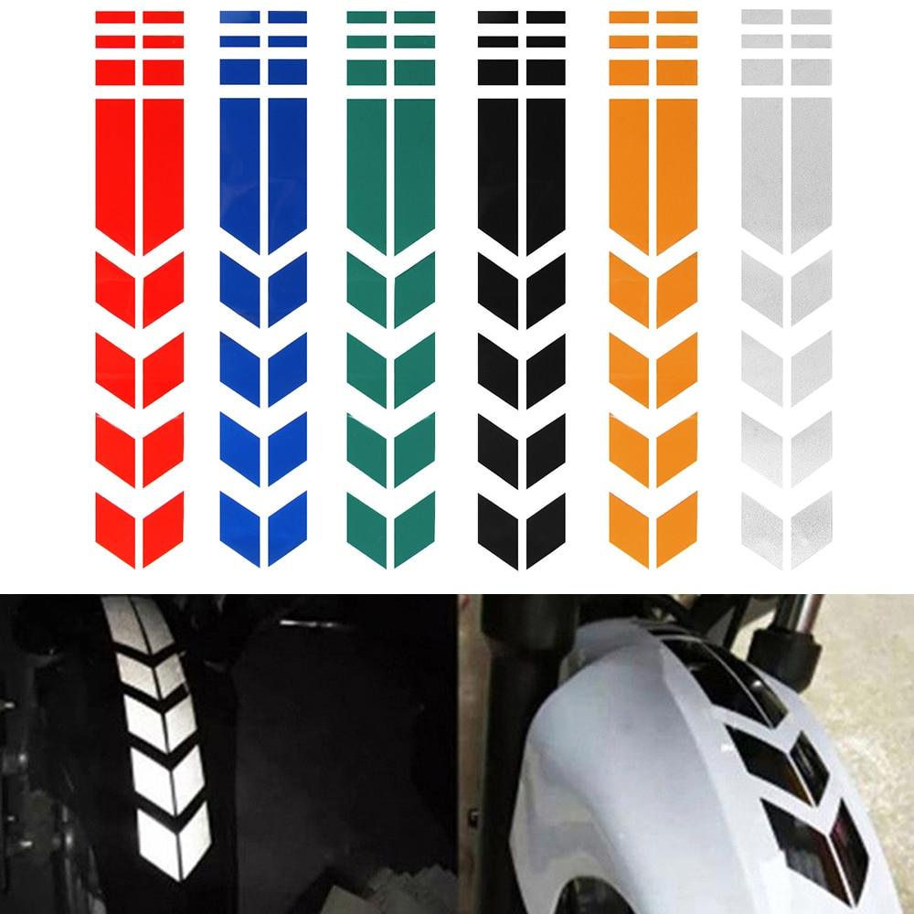 Motorcycle Stickers Wheel Car Decals on Fender Waterproof Decorat Reflective