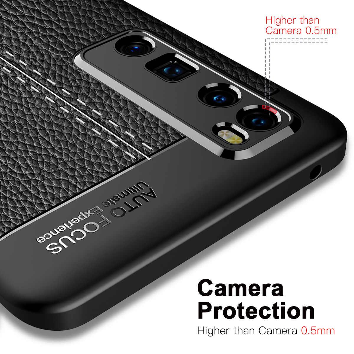 Nova 7 per il Caso di Huawei Nova 7 Pro Del Modello Del Litchi di cuoio Molle DELLA COPERTURA di TPU per Nova 7SE Coque per Nova 7 se Capa Fundas