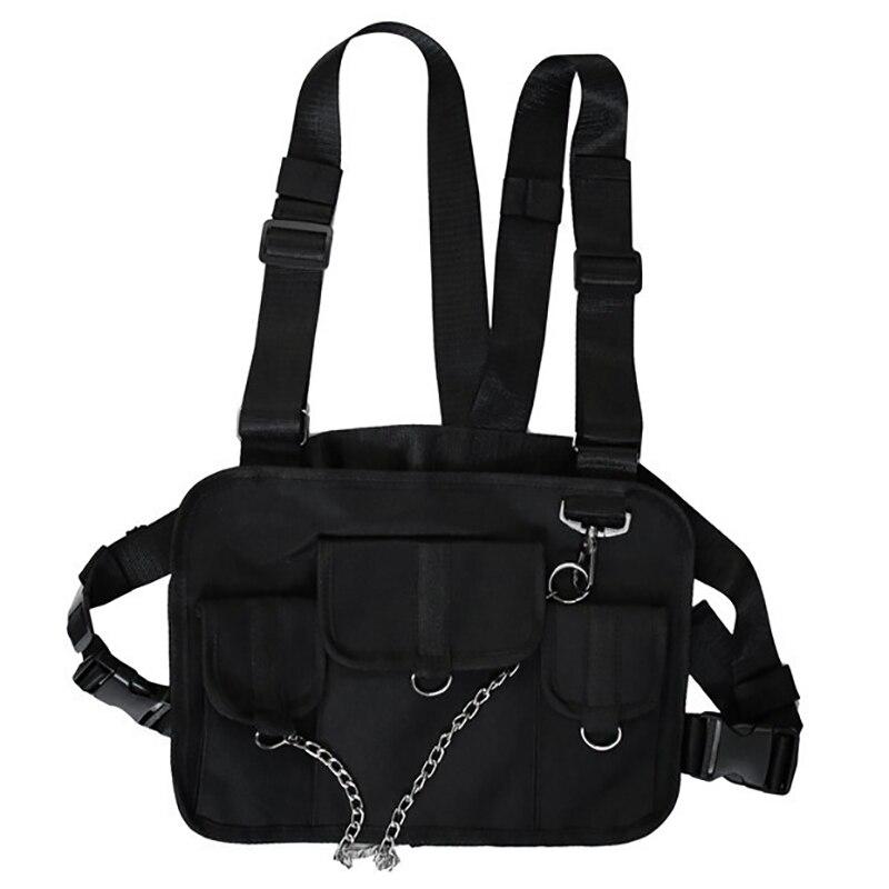 Chest Bag For Men Hip Hop Harness Chest Rig Bag Vest Streewear Women Shoulder Bag Chest Package Waist Pack