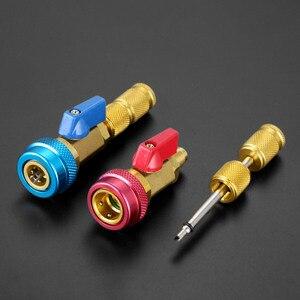 Image 2 - Noyau de Valve de climatisation de voiture R134a dissolvant rapide installateur basse pression réfrigérant fréon kit dadaptateur outil de dissolvant de noyau de Valve