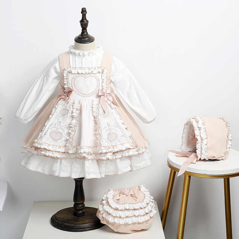 2020Autumn Spanish Princess Dress Children Thanksgiving Outfits Christmas Outfit Toddler Girl Clothes  Boutique Kids Clothing