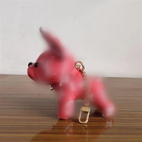 2020 Hot PU Leather Bulldog Keychain Cute Animal Dog Key Chain Charm Bag Car Key Ring брелок Pendant Accessories Trinkets on AliExpress