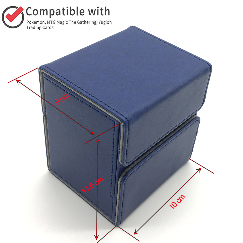 New Style Trading Card Deck Case for Magic/Pokemon/YuGiOh Cards Deck Box: blue(China)