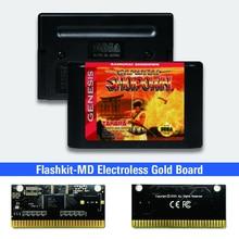 Samurai Shodown Mỹ Nhãn Flashkit MD Electroless Vàng PCB Thẻ Cho Sega Genesis Megadrive Video Máy Chơi Game
