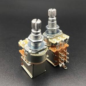 12Pcs Gitarre Push-Pull Töpfe Potentiometer Schalter 250K 500K Lange Split Welle 18mm für Elektrische Guitarra bass Teile