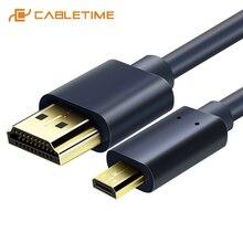 CABLETIME חדש הגעה מיקרו HDMI ל hdmi כבל דו כיוונית HDMI כבל 2k * 4k 2.0 HD גבוהה פרימיום HDMI CL4 עבור תיבת PS4 C127