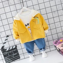 New Children Autumn Clothing Sets Baby Boys Girls Clothes Suits Toddler Hooded Cartoon Coats T Shirt Pants 3Pcs Infant Costume ideacherry children clothing sets hooded toddler leisure coats sweatshirt leggings suit for girls clothes pants sports suits
