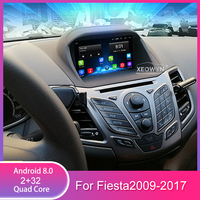 7inch quad core Android 8.0 Car Radio Multimedia Player GPS Navi for Ford fiesta 2008 2017 4G LTE