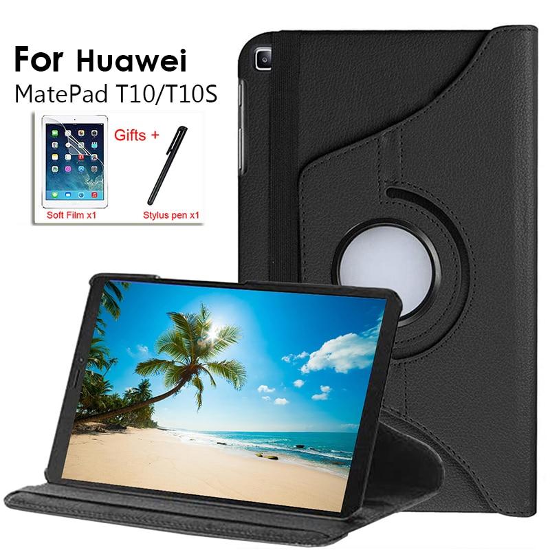 Couro inteligente tablet caso capa huawei matepad t10s 10.1