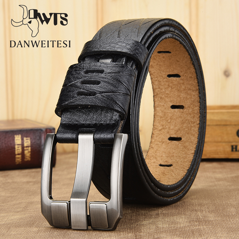 [DWTS]men Belt High Quality Genuine Leather Belt Luxury Designer Belts Male Cowskin Fashion Strap Male Belts For Men Cowboy