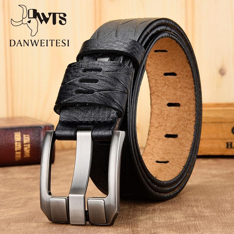 [DWTS]men Belt High Quality Genuine Leather Belt Luxury Designer Belts Male Cowskin Fashion Strap Male Belts For Men Cowboy