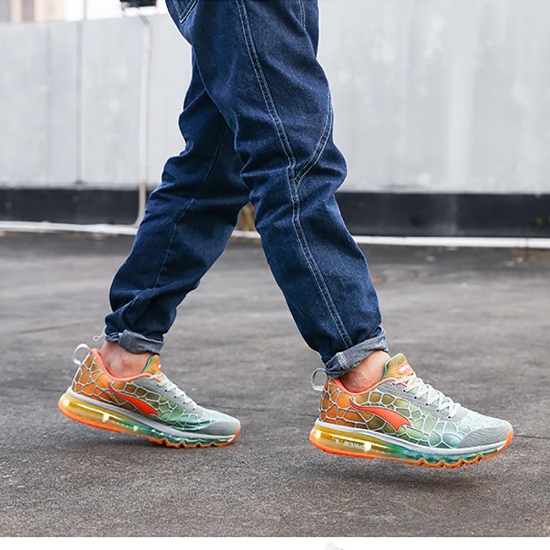 Купить с кэшбэком ONEMIX Men's Running Shoes Breathable Mesh Sport Chaussures De Course Outdoor Athletic Walking Sneakers Big Size 35-47 Shoes
