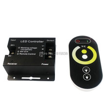 2 Buah/Banyak Warna Suhu Touch LED Controller DC12-24V CCT Pengontrolan Lampu Pengontrol 3H Remote LED CCT Controller(China)