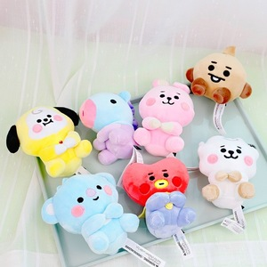 New Kpop Popular Animal Baby Bt21 Pendant Plush Toys Bangtan Boy Groups Peluches Cartoon Backpack Decoration Dolls Girls Gifts