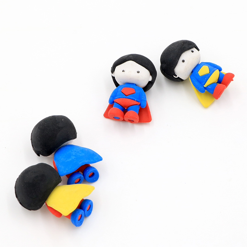 1 Pcs Creative Cartoon Boy Cute Doll Eraser Student Stationery Learning Supplies Wholesale