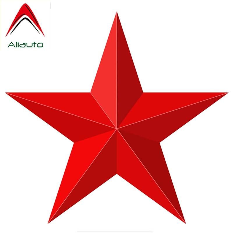 Модная Автомобильная 3D наклейка Aliauto, красная звезда, декоративная Обложка, царапины, Виниловая наклейка для мотоцикла, Jeep Lifan, Lada, Toyota,15 см * 14...