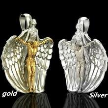 Женские божественное спасение Ангел ожерелье с Иисусом религиозная