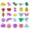 4Pcs Fidget Toys Pack Reliver Stress Toy Rainbow Push Bubble Antistress Toys Adults & Children Luminous Puzzle Sensory Toys