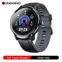 RUNDOING SN80 Men Smart watch 1.3 Inch Full Touch Screen Heart Rate Blood Oxygen Tracker Men Sport Smartwatch For Android IOS