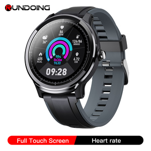 Image 1 - RUNDOING SN80 Men Smart watch 1.3 Inch Full Touch Screen Heart Rate Blood Oxygen Tracker Men Sport Smartwatch For Android IOS